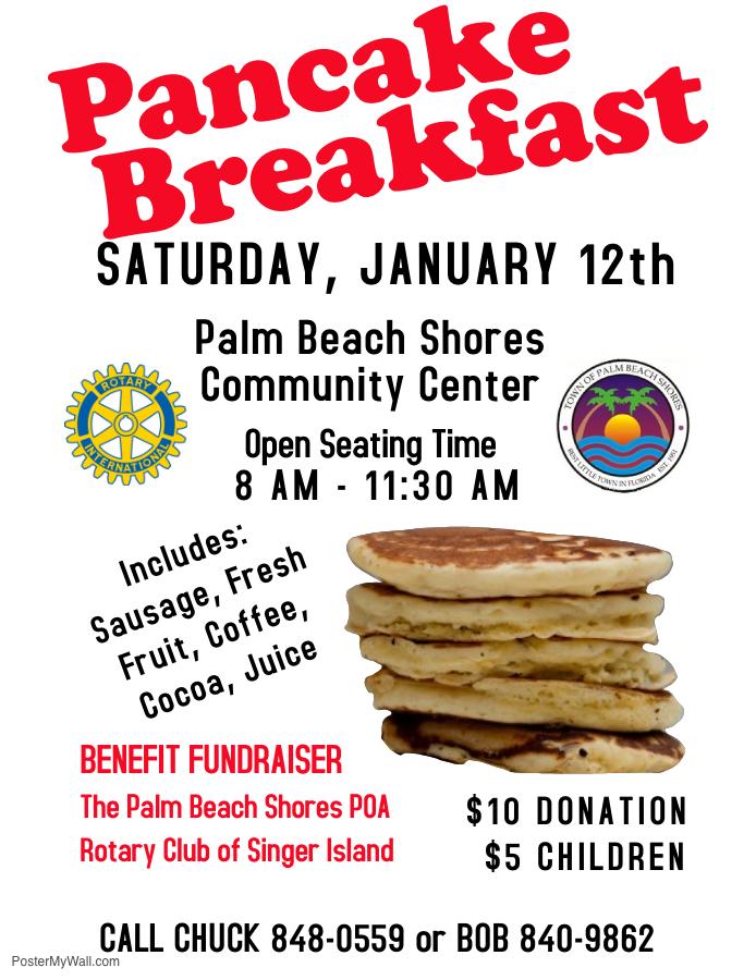 Pancake Breakfast Saturday January 12th